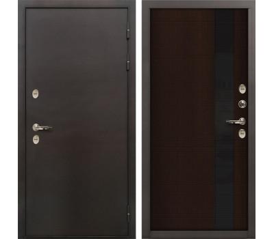 Входная уличная дверь с терморазрывом Лекс Термо Сибирь 3К Новита Венге (панель №53)
