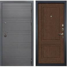 Входная дверь Лекс Сенатор 3К Софт графит / Энигма-1 Орех (панель №57)