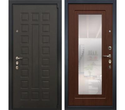 Входная стальная дверь Лекс 4А Неаполь Mottura с Зеркалом Береза мореная (панель №30)