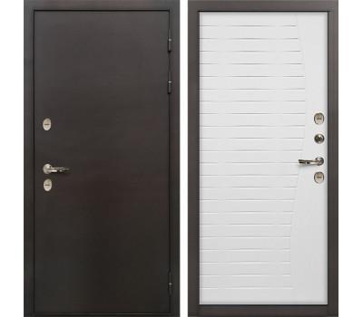 Входная уличная дверь с терморазрывом Лекс Термо Сибирь 3К Ясень белый (панель №36)