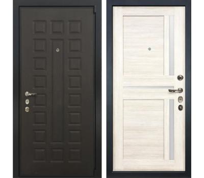 Входная стальная дверь Лекс 4А Неаполь Mottura Баджио Дуб беленый (панель №47)