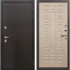 Входная дверь с терморазрывом Лекс Термо Сибирь 3К Дуб беленый (панель №20)