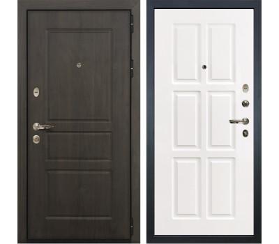 Входная стальная дверь Лекс Сенатор Винорит Софт белый снег (панель №85)