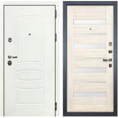 Входная дверь Лекс Сенатор 3К Шагрень белая / Сицилио Дуб беленый (панель №46)