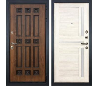 Входная металлическая дверь Лекс Гладиатор 3К Винорит Баджио Дуб беленый (панель №47)