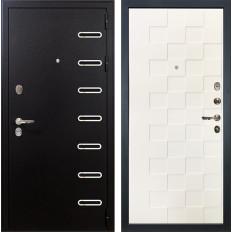 Входная дверь Лекс Витязь Белая шагрень Квадро (панель №71)