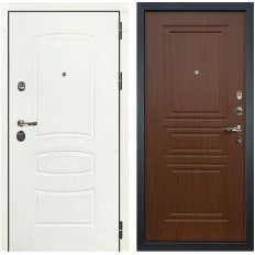 Входная дверь Лекс Сенатор 3К Шагрень белая / Береза мореная (панель №19)