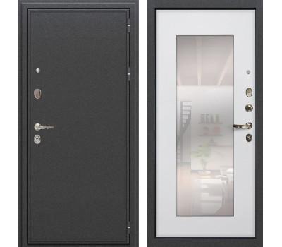Входная стальная дверь Лекс Колизей с Зеркалом Ясень белый (панель №37)