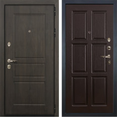 Входная дверь Лекс Сенатор Винорит Ясень шоколад (панель №84)
