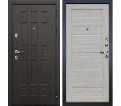 Входная металлическая дверь Лекс Сенатор 8 Клеопатра-2 Ясень кремовый (панель №66)