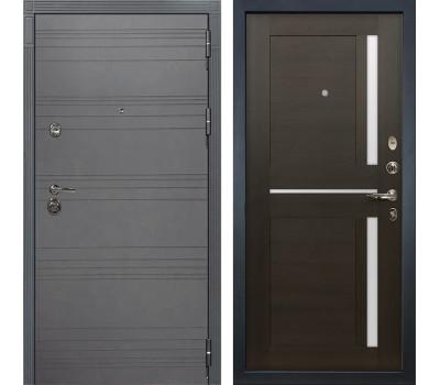 Входная металлическая дверь Лекс Сенатор 3К Софт графит / Баджио Венге (панель №50)