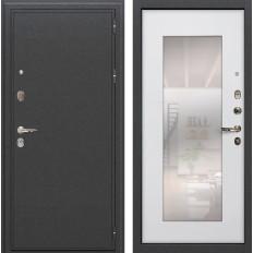 Входная дверь Лекс Колизей с Зеркалом Ясень белый (панель №37)
