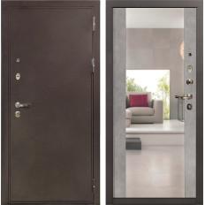 Входная дверь Лекс 5А Цезарь Стиль с Зеркалом Бетон серый (панель №102)