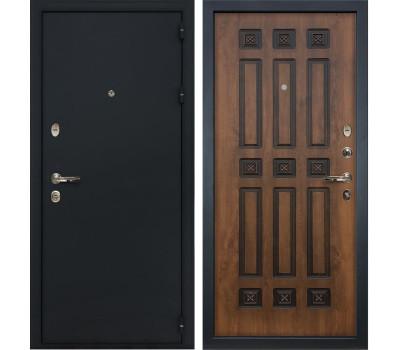 Входная стальная дверь Лекс 2 Рим Винорит Голден патина черная (панель №33)