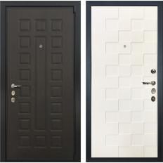 Входная дверь Лекс 4А Неаполь Mottura Белая шагрень Квадро (панель №71)
