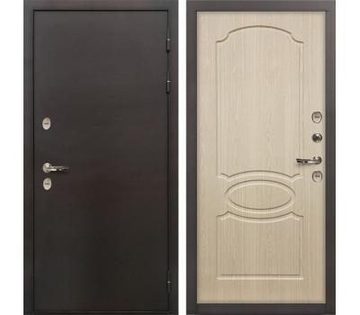 Входная уличная дверь с терморазрывом Лекс Термо Сибирь 3К Дуб беленый (панель №14)
