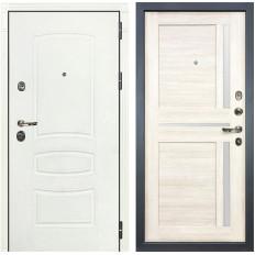 Входная дверь Лекс Сенатор 3К Шагрень белая / Баджио Дуб беленый (панель №47)