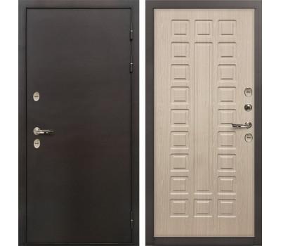 Входная уличная дверь с терморазрывом Лекс Термо Сибирь 3К Дуб беленый (панель №20)
