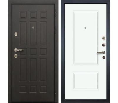 Входная металлическая дверь Лекс Сенатор 8 Вероника-1 Эмаль Белая (панель №55)