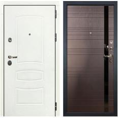 Входная дверь Лекс Сенатор 3К Шагрень белая / Ясень шоколад (панель №31)