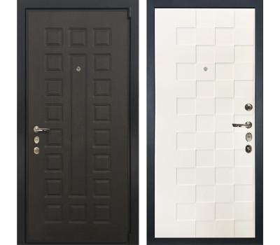 Входная стальная дверь Лекс 4А Неаполь Mottura Белая шагрень Квадро (панель №71)