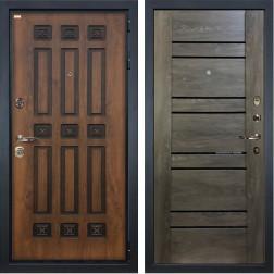 Входная металлическая дверь Лекс Гладиатор 3К Винорит Терра Графит шале (панель №64)