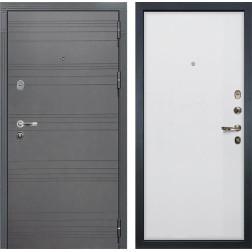 Входная стальная дверь Лекс Легион 3К Софт графит / Ясень белый (панель №62)