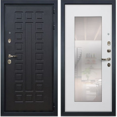 Входная дверь Лекс Гладиатор 3К с Зеркалом Ясень белый (панель №37)