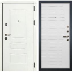 Входная металлическая дверь Лекс Сенатор 3К Шагрень белая / Ясень белый (панель №36)