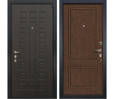 Входная стальная дверь Лекс 4А Неаполь Mottura Энигма-1 Орех (панель №57)