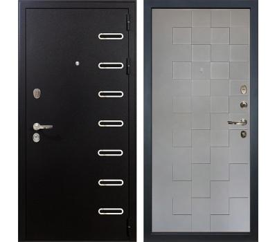 Входная металлическая дверь Лекс Витязь Графит софт Квадро (панель №72)